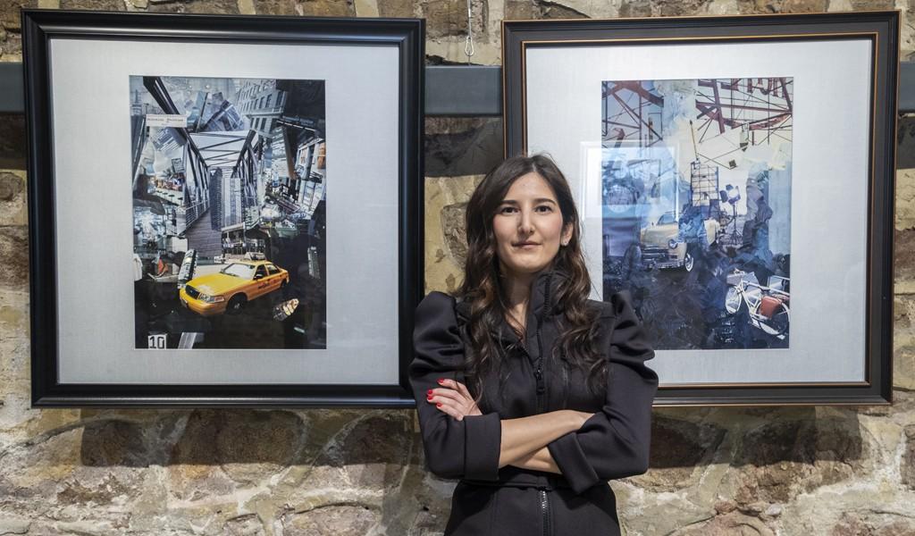 İzmit'te 10 Yıllık Sanat; Deniz Özyuva'nın Kolaj Sergisi